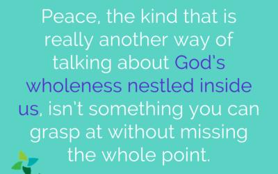 A spiritual practice of peace