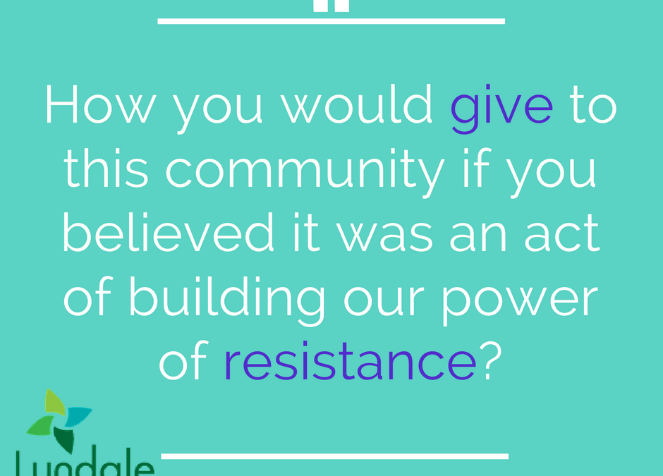 Water from the Rock: Giving as Resistance