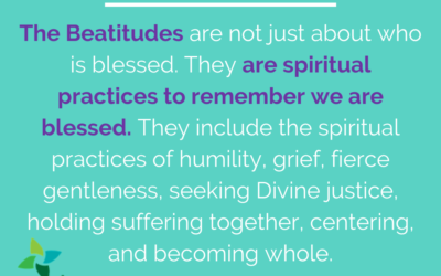 The spiritual practice of receiving God's blessing.